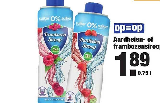 ALDI Aardbeien- Of Frambozensiroop