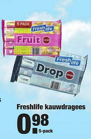 ALDI Freshlife Kauwdragees