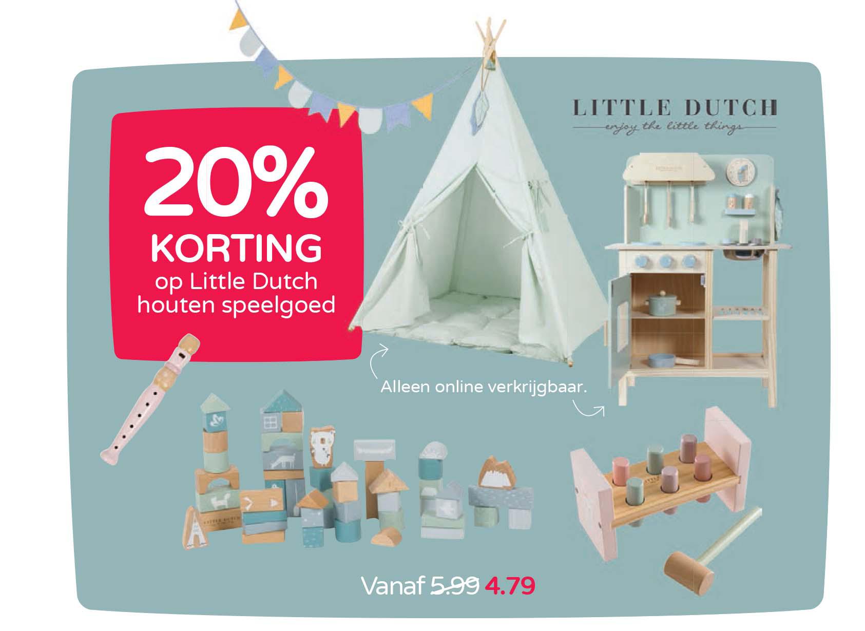 Prénatal 20% Korting Op Little Dutch Houten Speelgoed