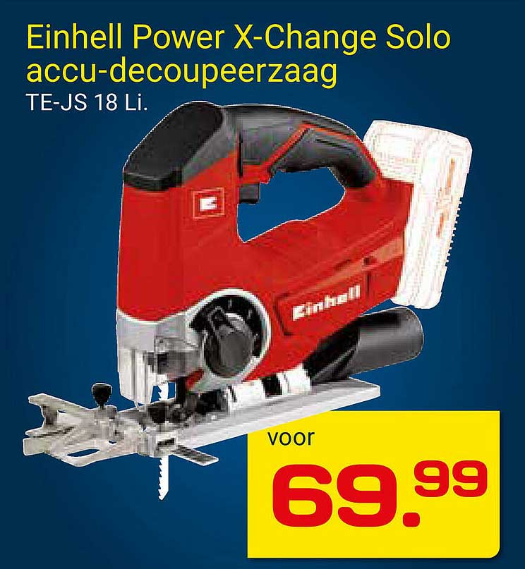 KlusWijs Einhell Power X-Change Solo Accu-Decoupeerzaag TE-JS 18 Li