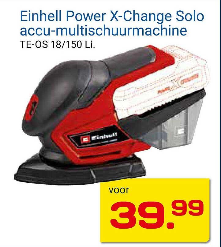 KlusWijs Einhell Power X-Change Solo Accu-Multischuurmachine TE-OS 18-150 Li