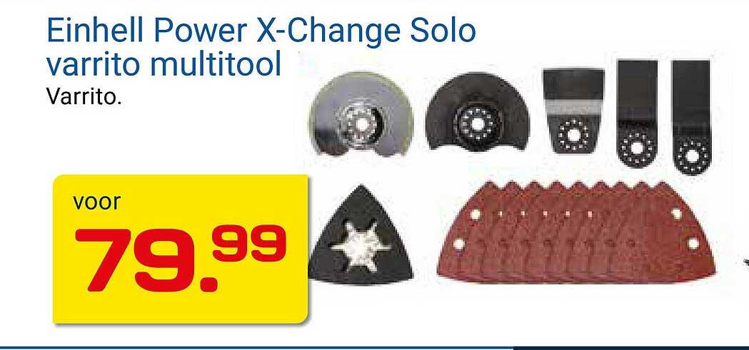 KlusWijs Einhell Power X-Change Solo Varrito Multitool