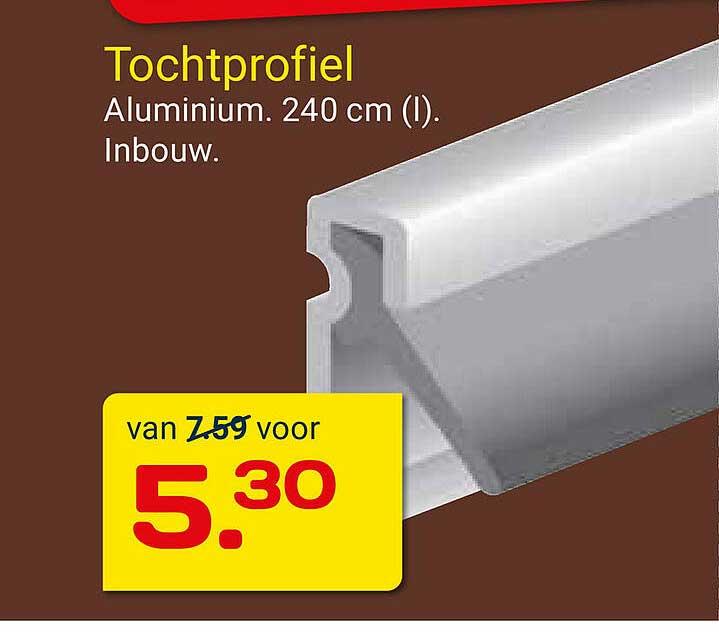 KlusWijs Tochtprofiel 240 Cm Inbouw