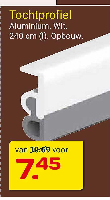 KlusWijs Tochtprofiel Wit 240 Cm Opbouw