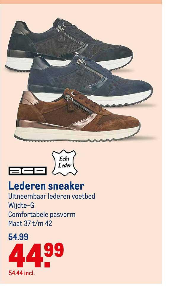 Makro Aco Lederen Sneaker