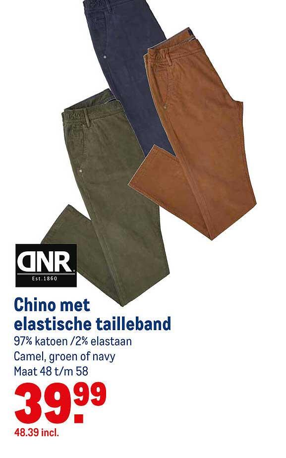 Makro DNR Chino Met Elastische Tailleband