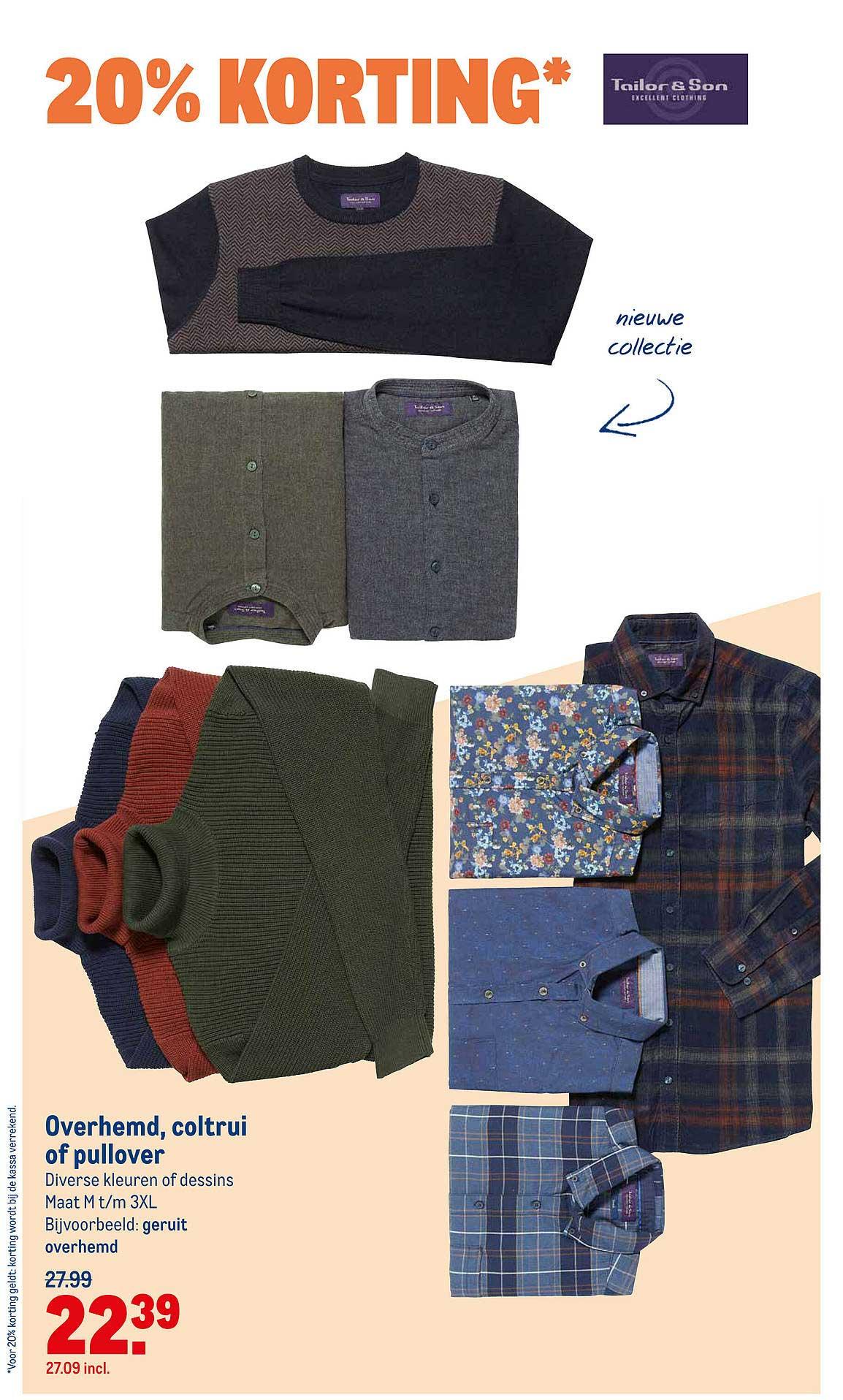 Makro Overhemd, Coltrui Of Pullover 20% Korting