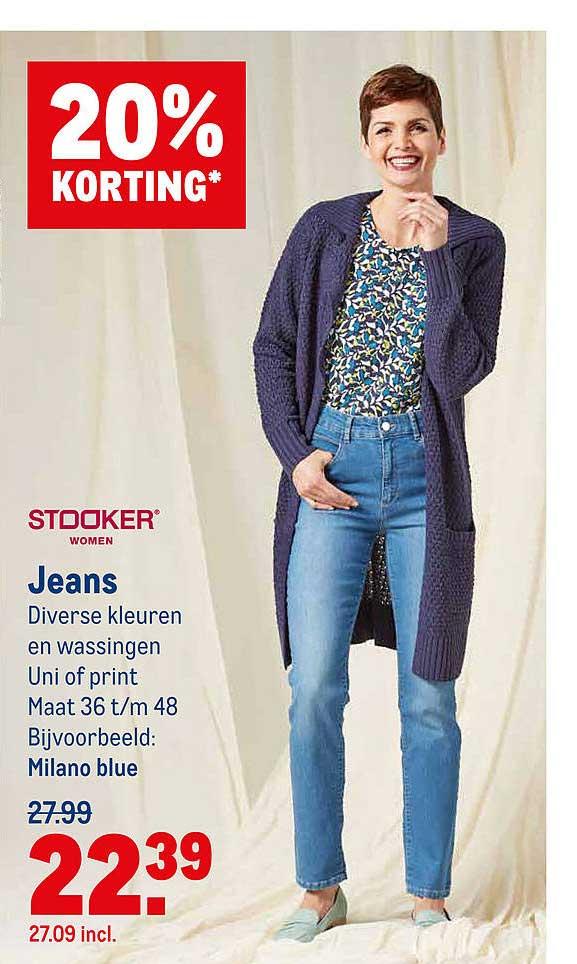 Makro Stooker Jeans 20% Korting