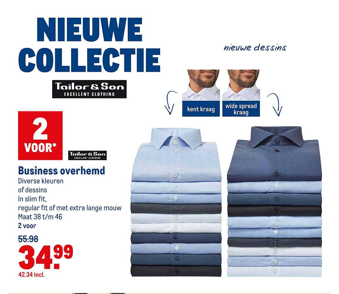 Makro Tailor & Son Business Overhemd