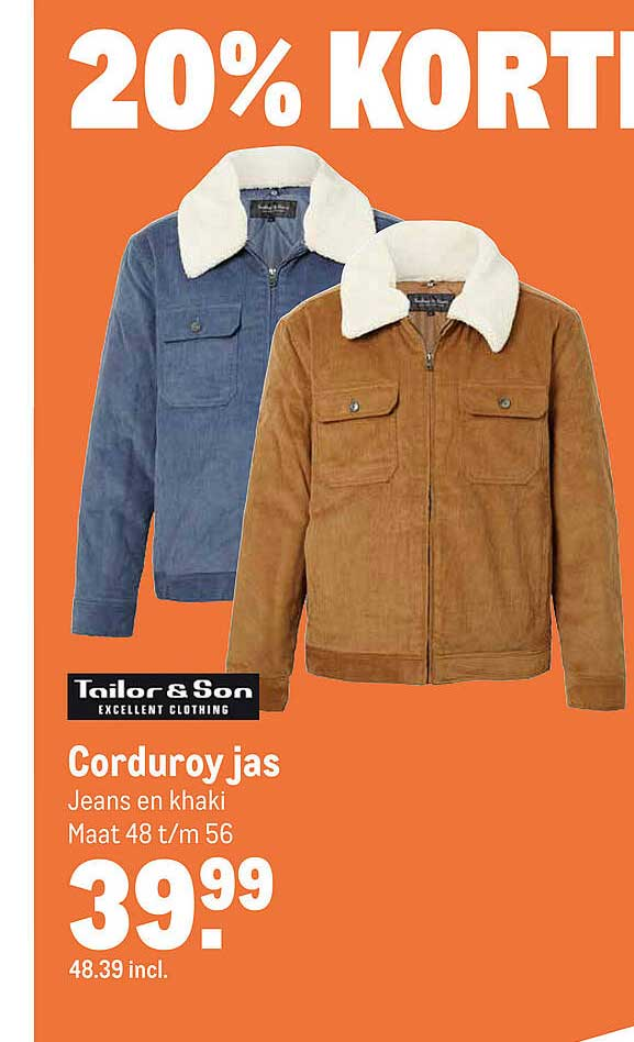 Makro Tailor & Son Corduroy Jas