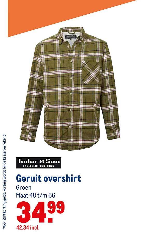Makro Tailor & Son Geruit Overshirt