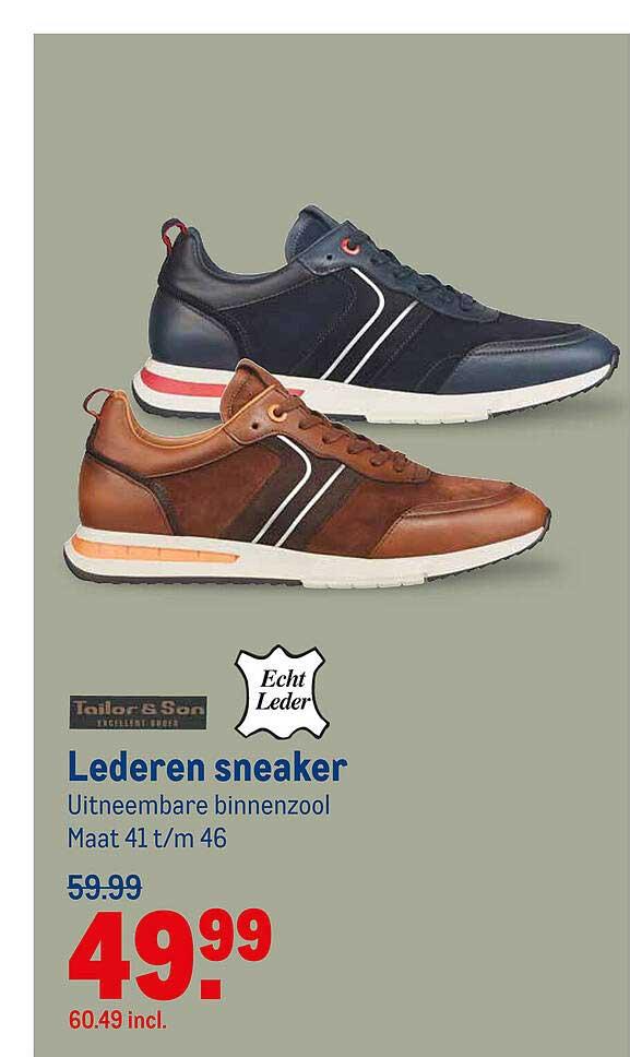 Makro Tailor & Son Lederen Sneaker