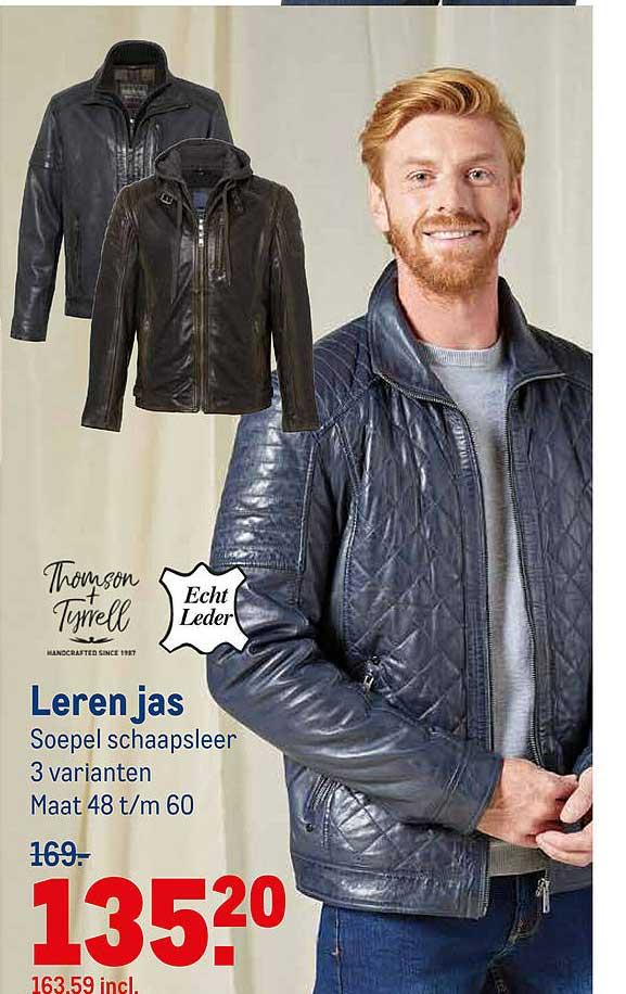 Makro Thomson + Tyrrell Of Echt Leder Leren Jas