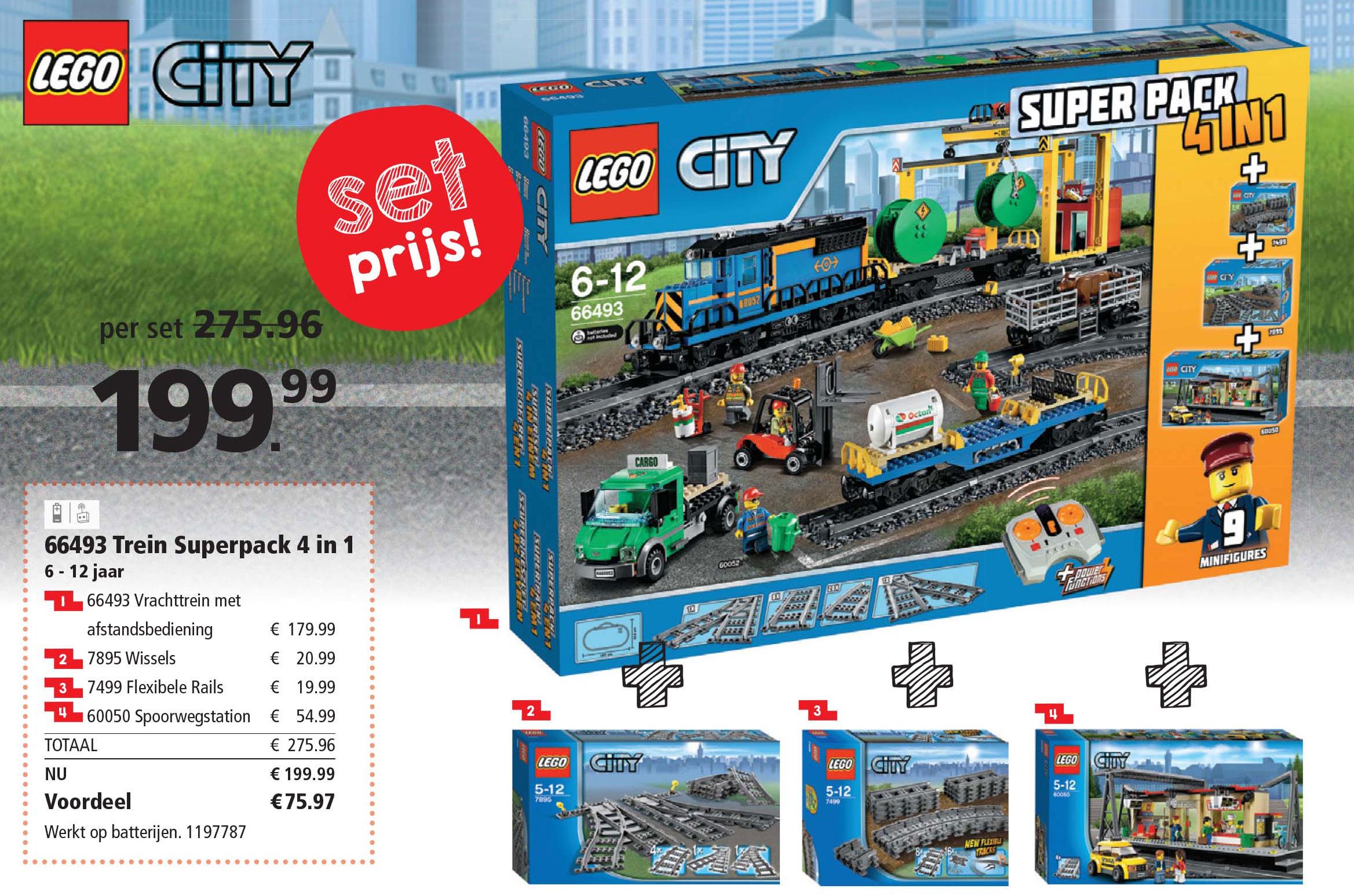 Intertoys Lego Trein Superpack 4 In 1