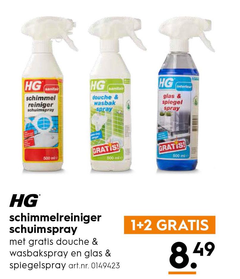 Hg Schimmelreiniger Schuimspray 1 2 Gratis Aanbieding Bij Blokker