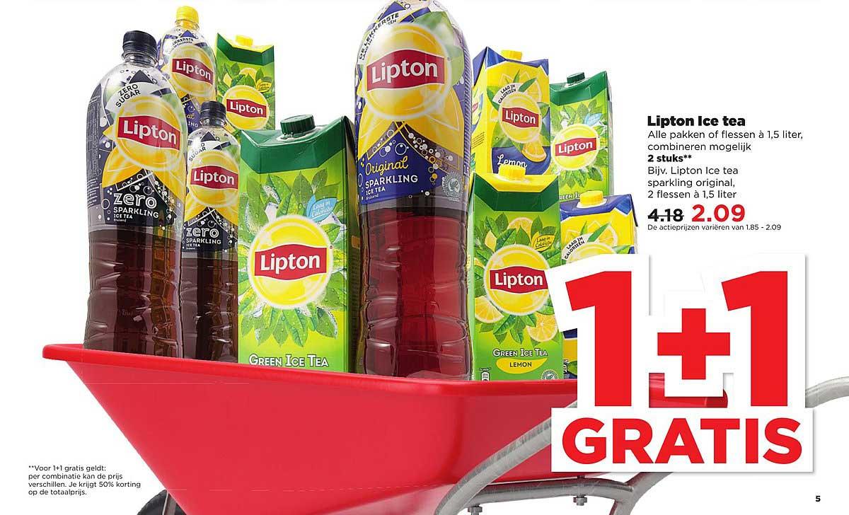 PLUS Lipton Ice Tea: 1+1 Gratis