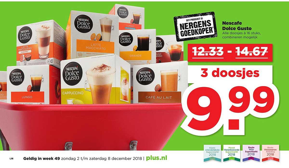 PLUS Nescafe Dolce Gusto: 3 Doosjes €9,99