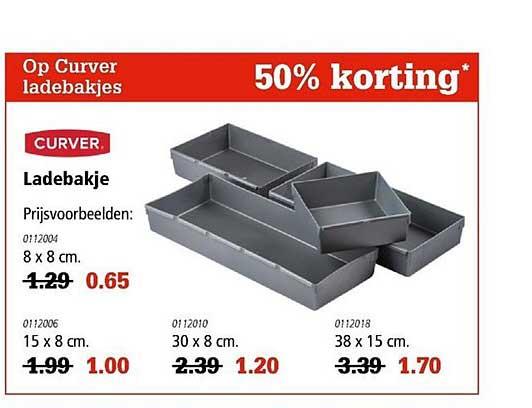 Marskramer Op Curver Ladebakjes: 50% Korting