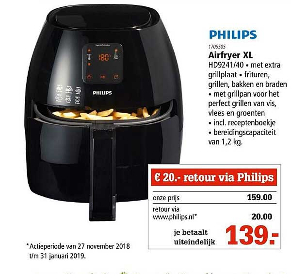 Marskramer Philips Airfryer Xl