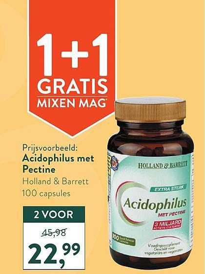 Holland & Barrett Acidophilus Met Pectine 1+1 Gratis