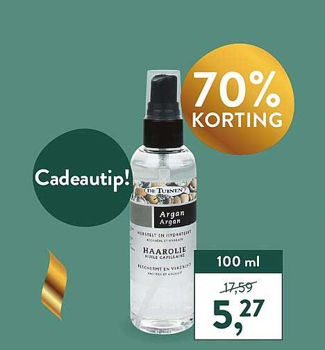 Holland & Barrett De Tuinen Haarolie 70% Korting