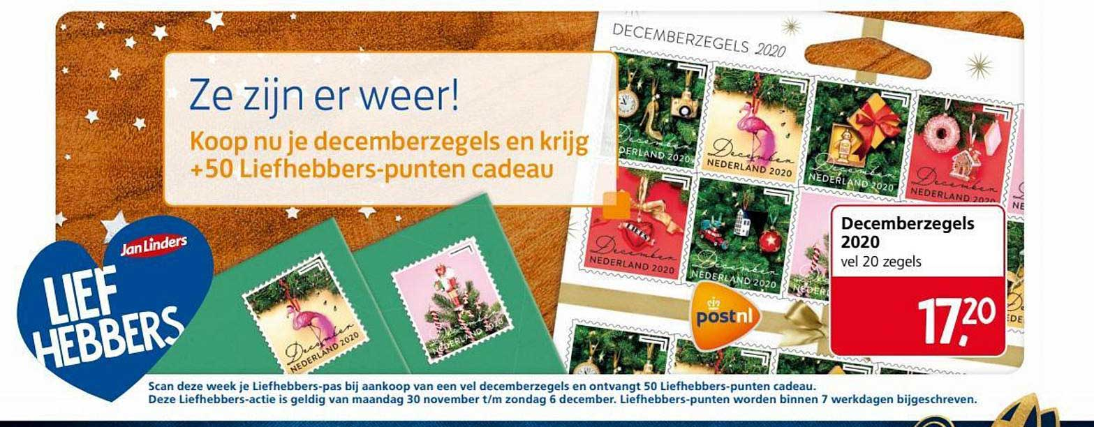 Jan Linders Decemberzegels 2020