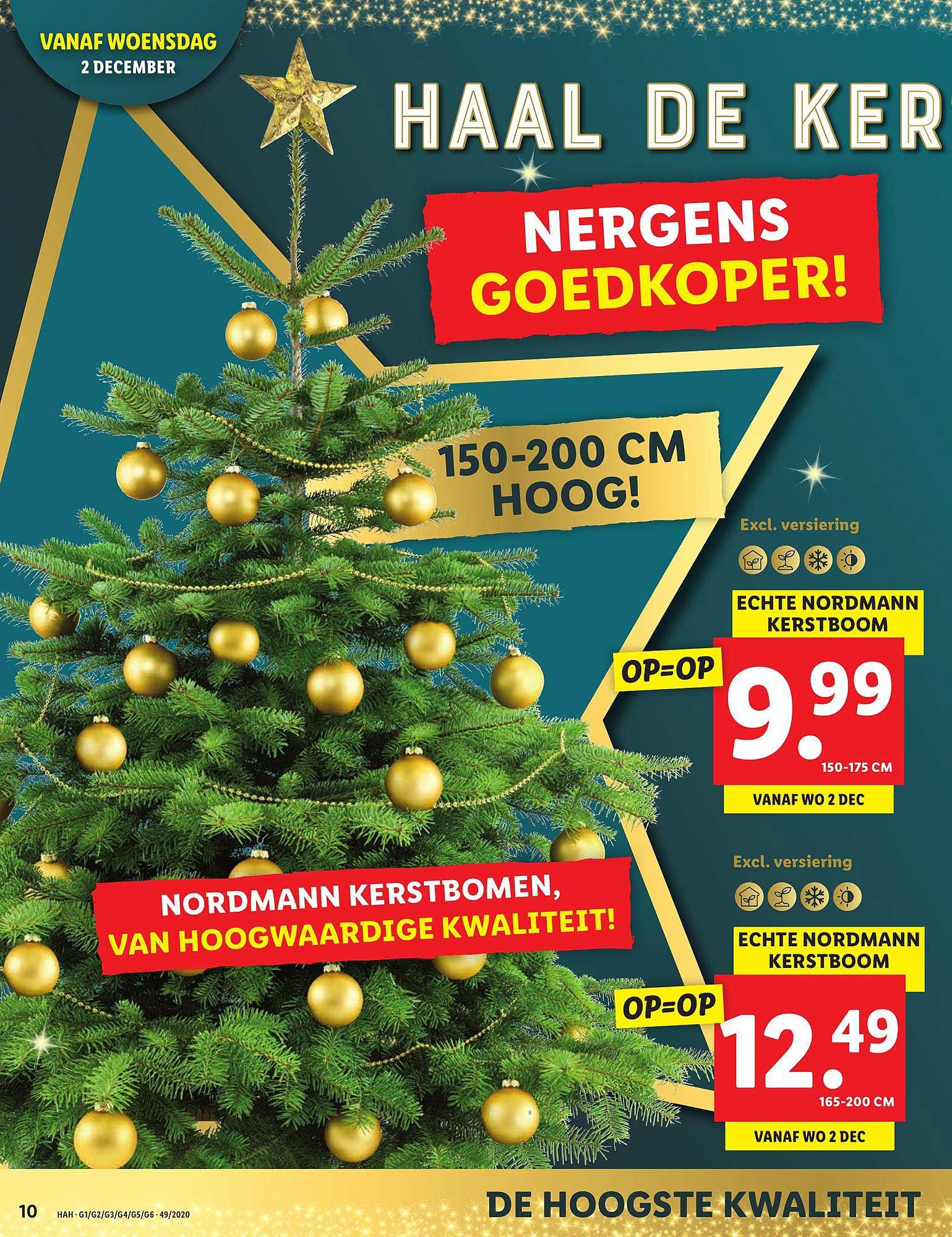 Lidl Echte Nordmann Kerstboom