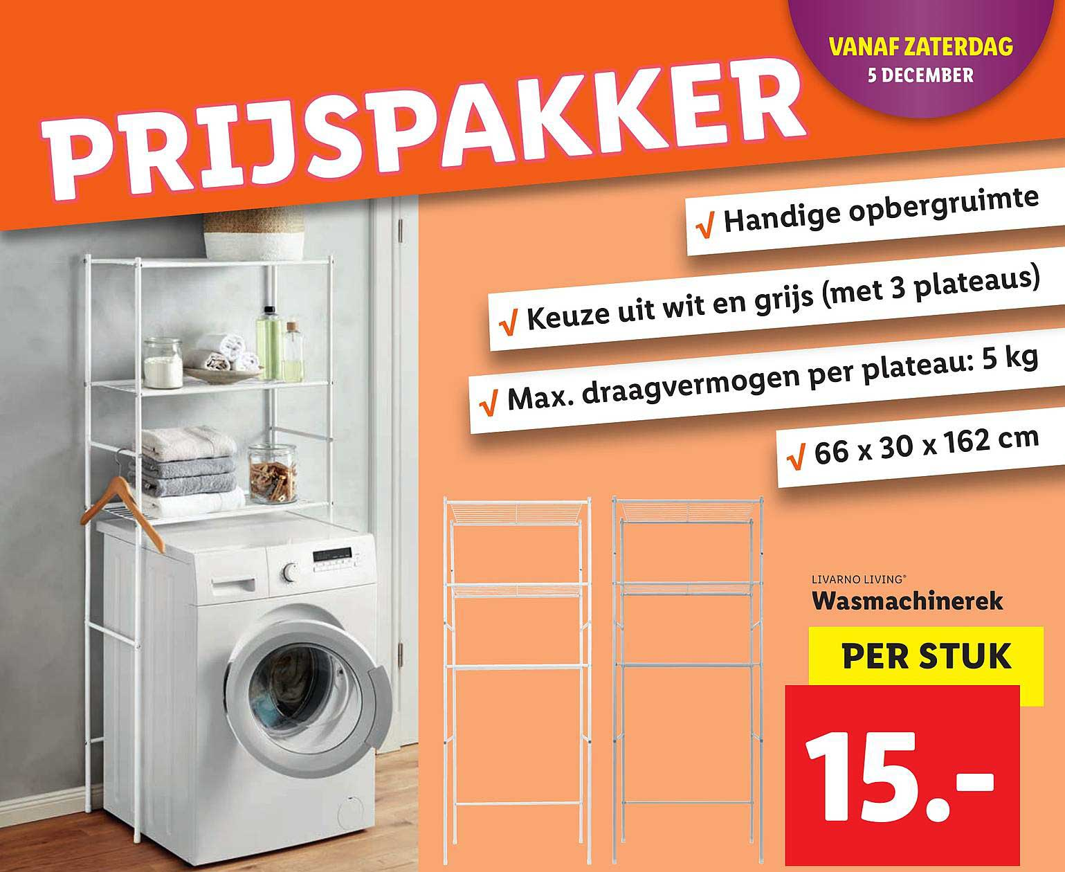 Lidl Livarno Living Wasmachinerek