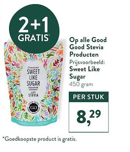 Holland & Barrett Op Alle Good Good Stevia Producten 2+1 Gratis