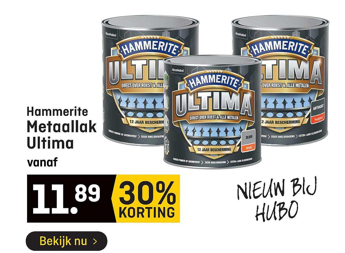 Hubo Hammerite Metaallak Ultima 30% Korting