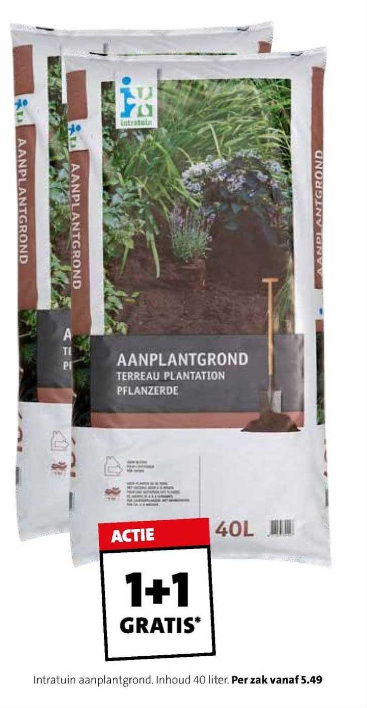 Intratuin Intratuin Aanplantgrond 40 Liter 1+1 Gratis
