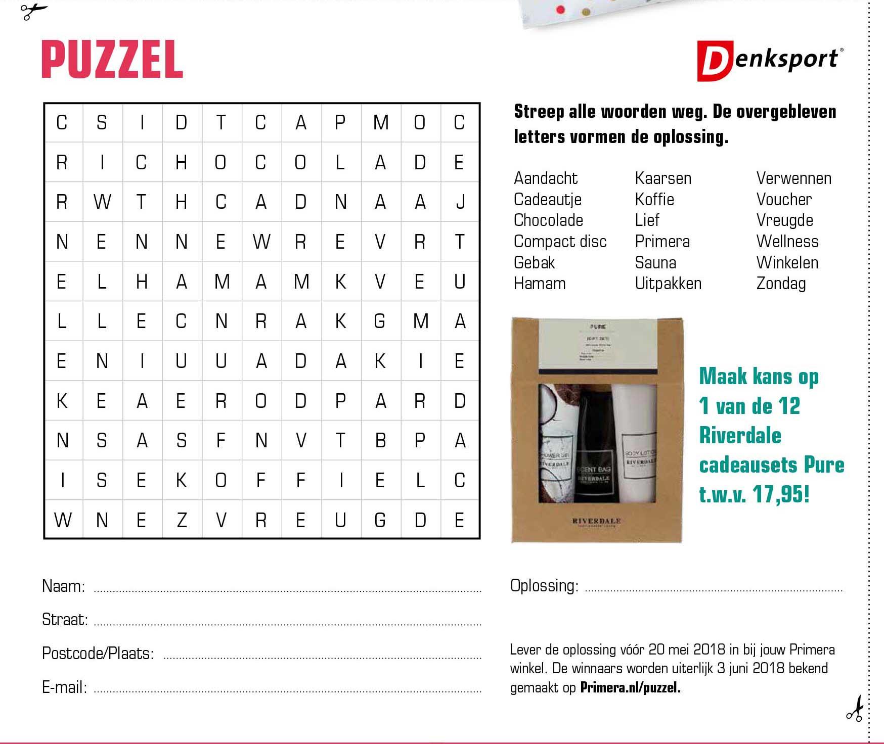 Primera Denksport Puzzel