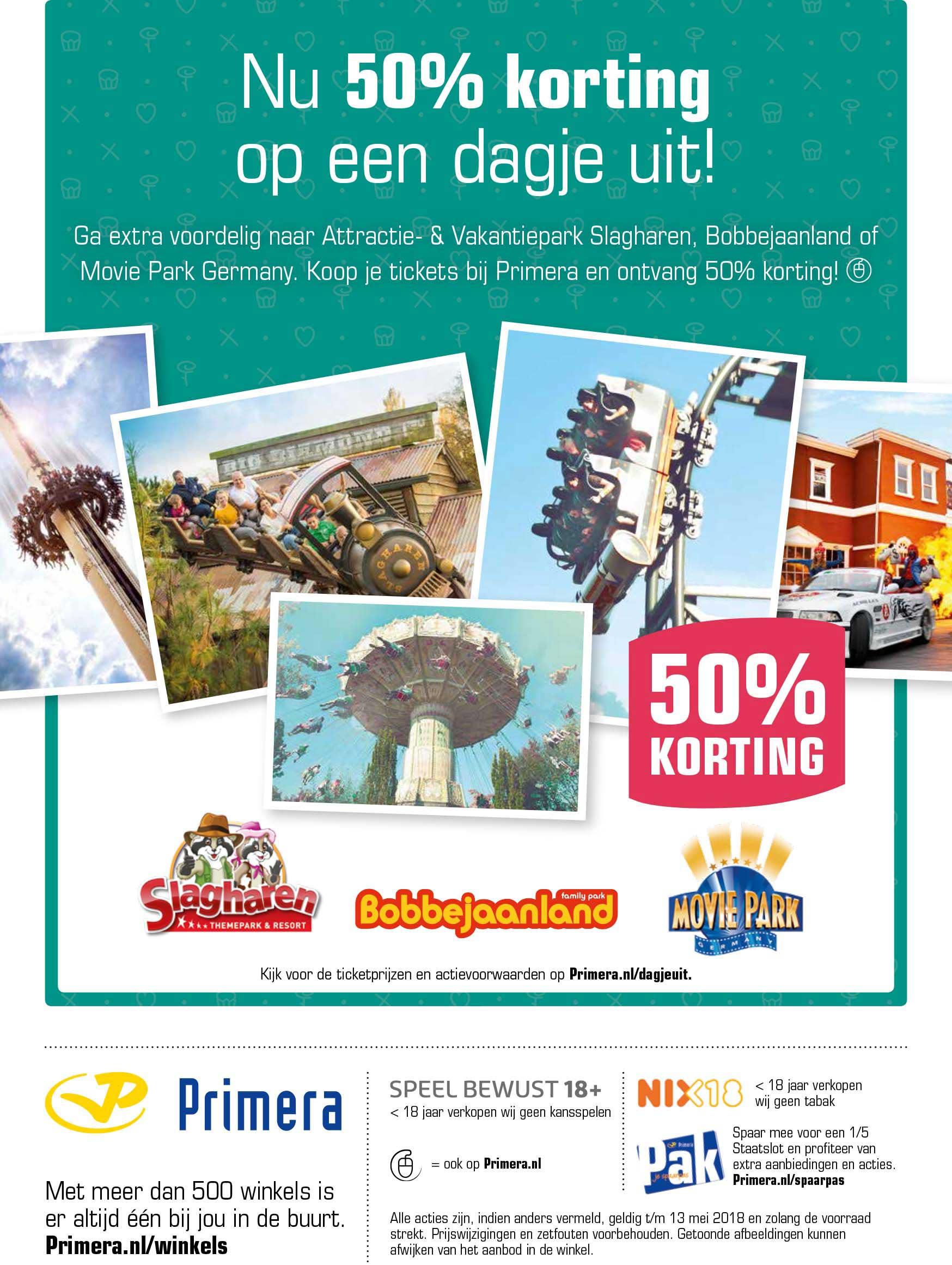 Primera Nu 50% Korting Op Een Dagje Uit!