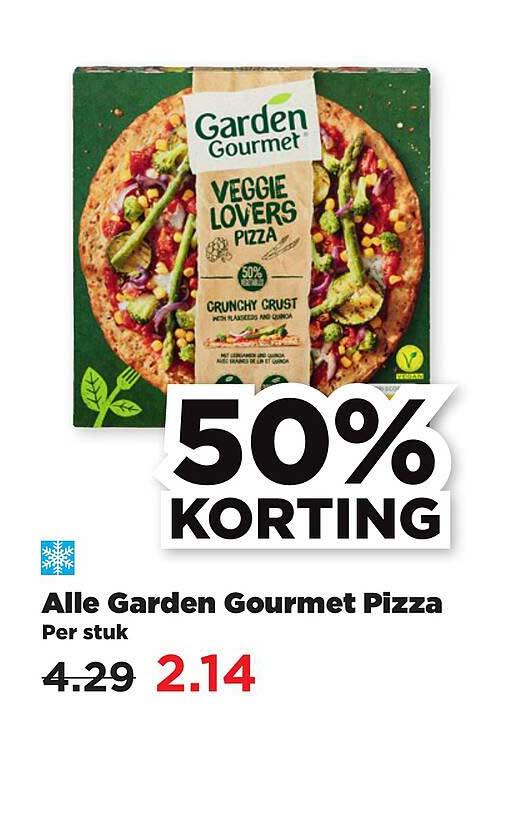 PLUS Alle Garden Gourmet Pizza 50% Korting