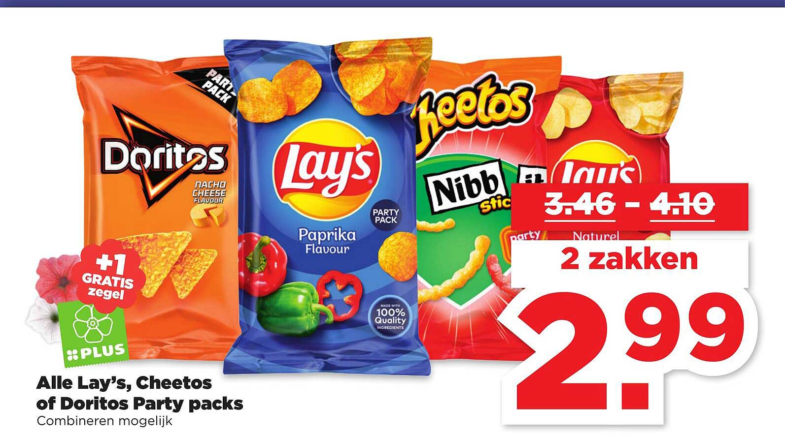 PLUS Alle Lay's, Cheetos Of Doritos Party Packs