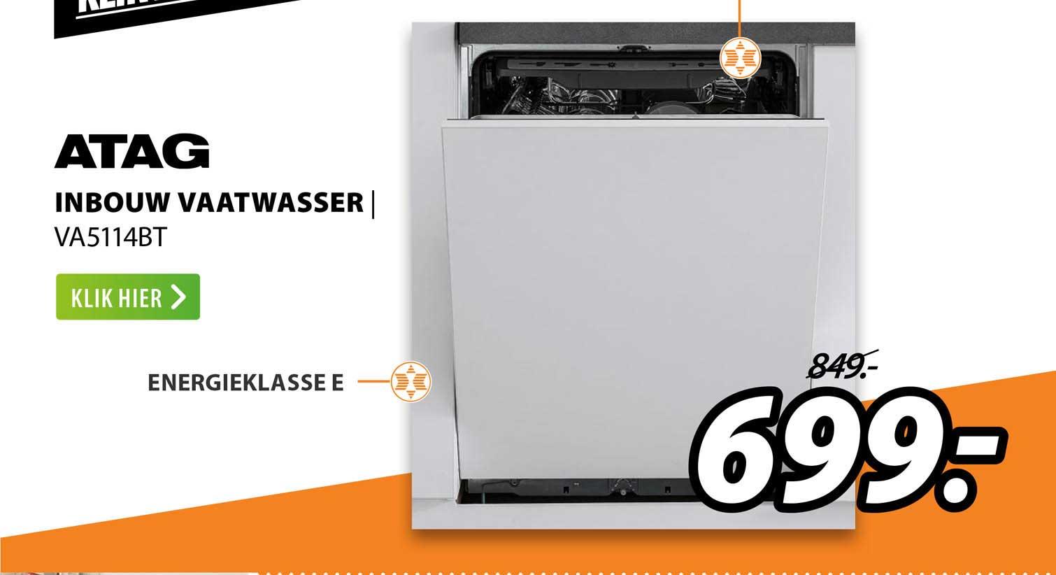 Expert ATAG Inbouw Vaatwasser | VA5114BT
