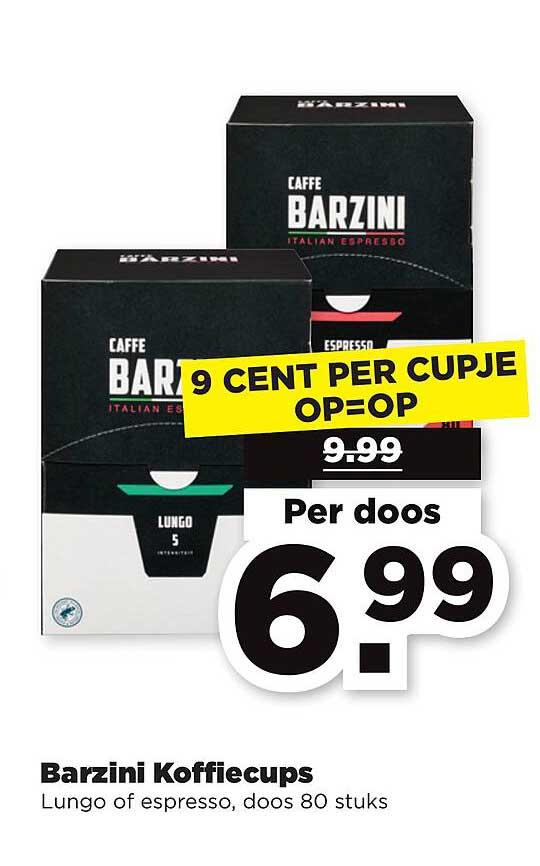 PLUS Barzini Koffiecups