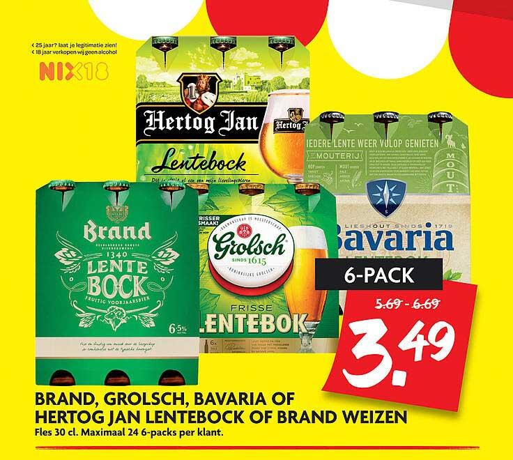 DekaMarkt Brand, Grolsch, Bavaria Of Hertog Jan Lentebock Of Brand Weizen
