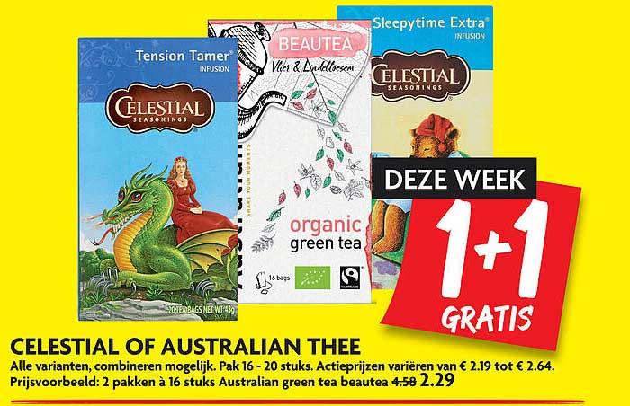 DekaMarkt Celestial Of Australian Thee 1+1 Gratis