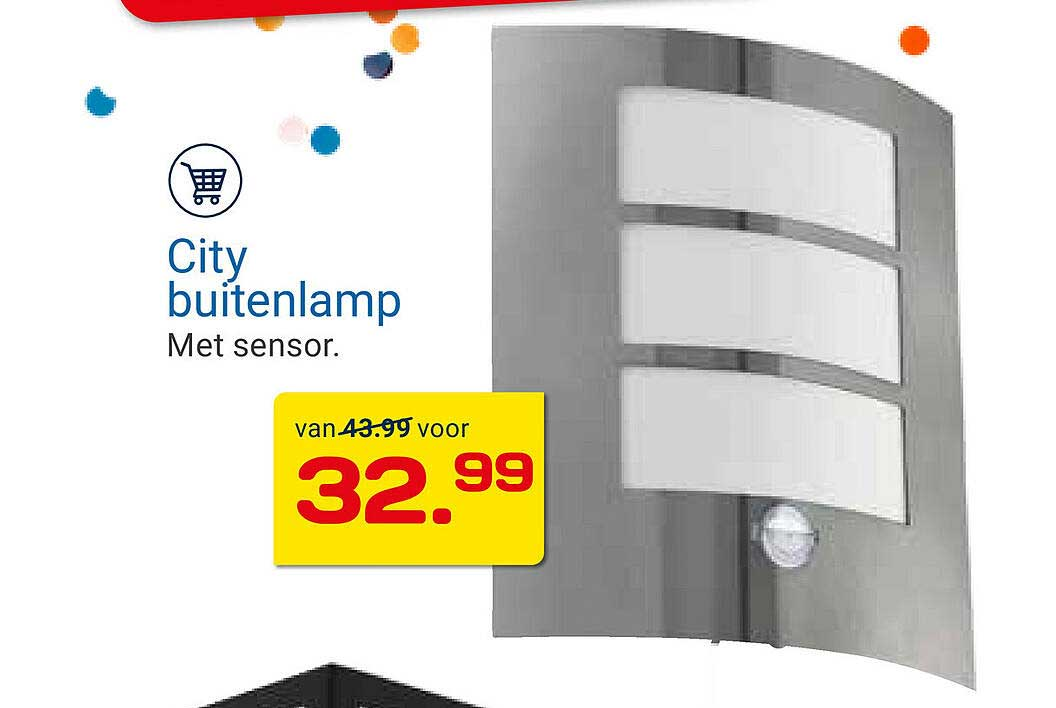 KlusWijs City Buitenlamp Met Sensor