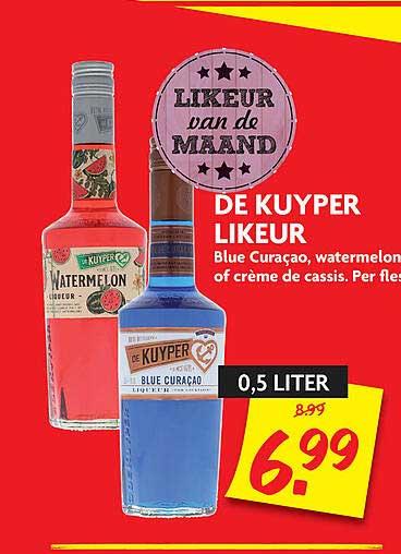 DekaMarkt De Kuyper Likeur Blue Curaçao, Watermelon Of Crème De Cassis