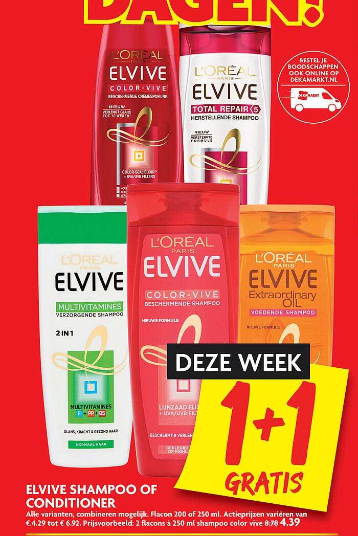 DekaMarkt Elvive Shampoo Of Conditioner 1+1 Gratis