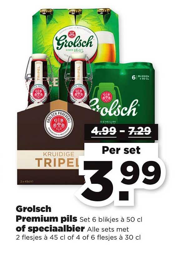 PLUS Grolsch Premium Pils Of Speciaalbier