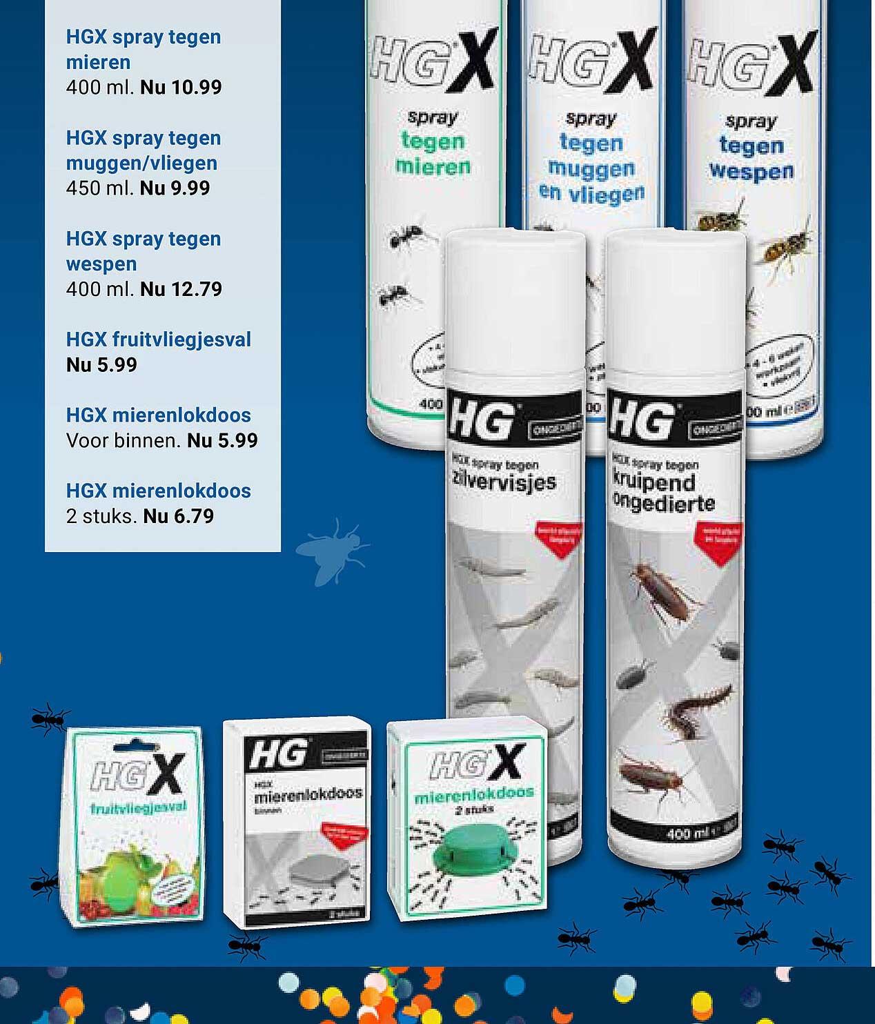 KlusWijs HGX Spray Tegen Mieren, HGX Spray Tegen Muggen-Vliegen, HGX Spray Tegen Wespen, HGX Fruitvliegjesval Of HGX Mierenlokdoos