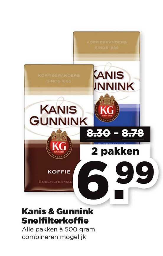 PLUS Kanis & Gunnink Snelfilterkoffie