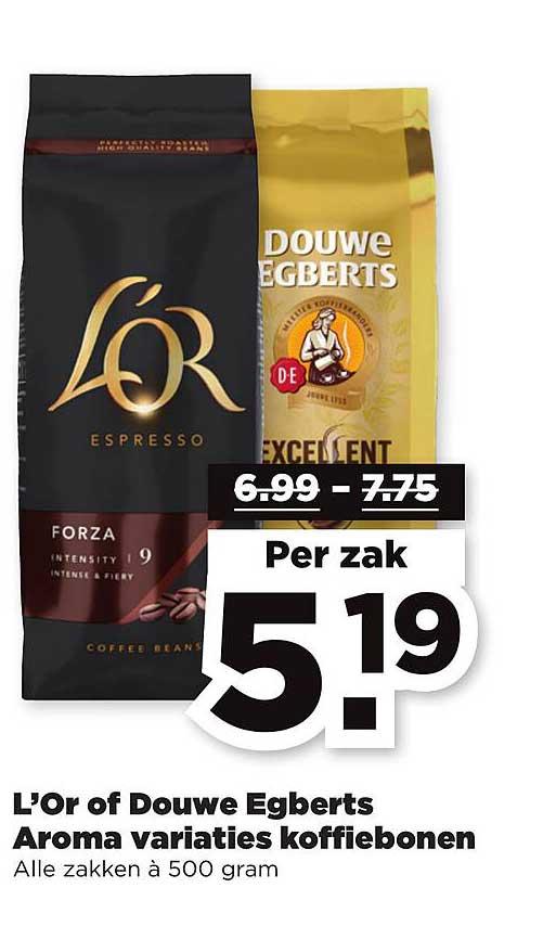 PLUS L'Or Of Douwe Egberts Aroma Variaties Koffiebonen