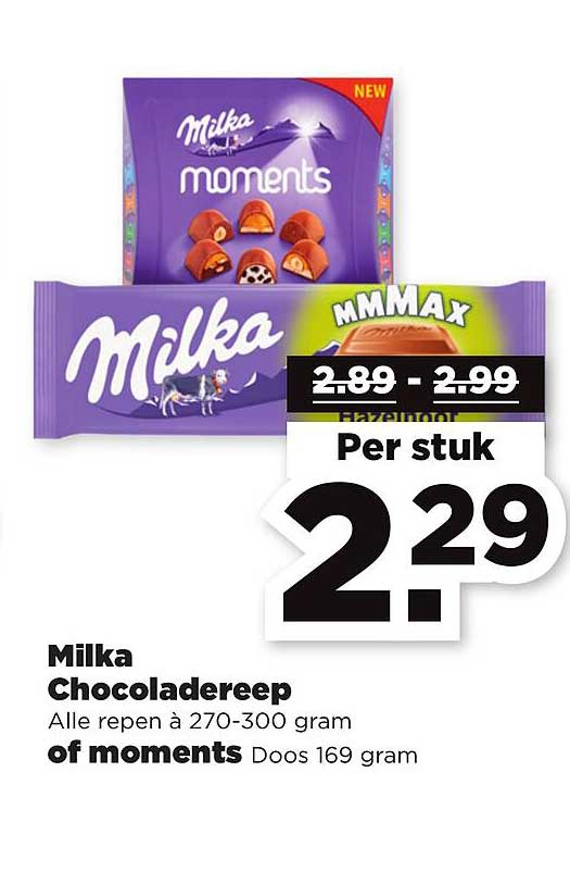 PLUS Milka Chocoladereep Of Moments