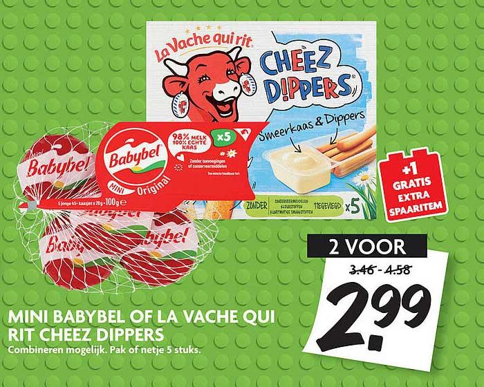 DekaMarkt Mini Babybel Of La Vache Qui Rit Cheez Dippers
