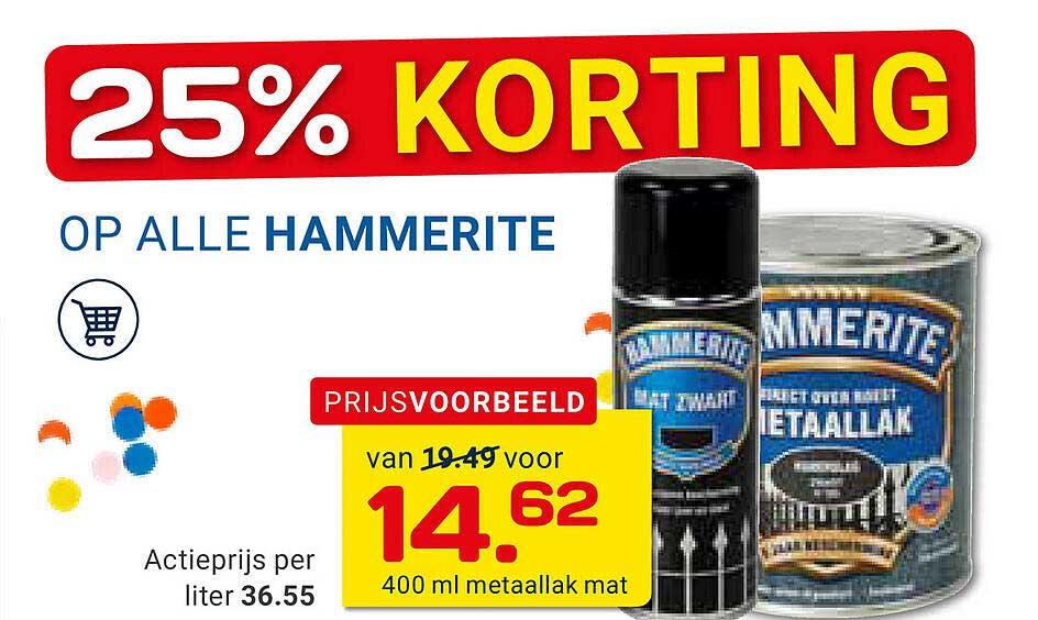 KlusWijs Op Alle Hammerite 25% Korting
