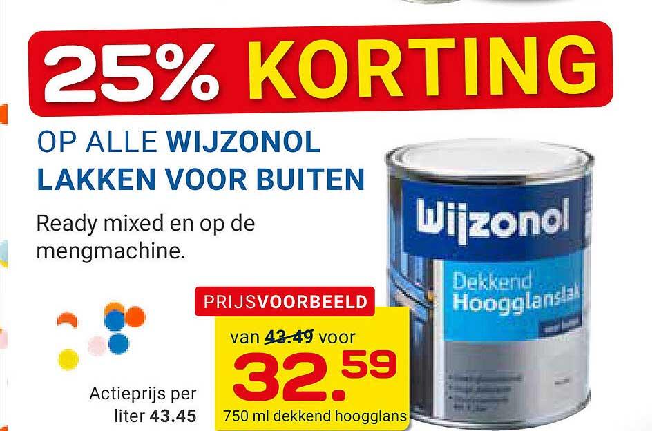 KlusWijs Op Alle Wijzonol Lakken Voor Buiten 25% Korting